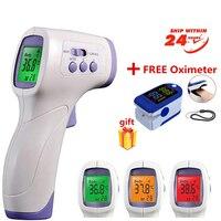 Termómetro Electrónico infrarrojo para bebés y adultos, medidor Digital de temperatura corporal sin contacto para la frente
