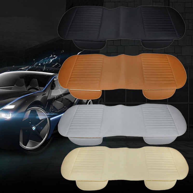 ユニバーサルオートカバープロテクターパッドマット通気性 Pu レザー車のフロントリアバックシートカバー自動車シートクッション 4 色