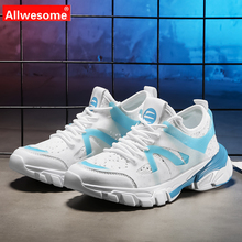 Allwesome Women Sneakers 2019 Fashion Autumn  Chunky White Casual Best Selling Sports Heighten Ladies Shoes