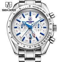 Sekaro Design Top Brand Luxury Men Watches Automatic Watch Men Stainless Steel Waterproof Business Sport Mechanical Wristwatch