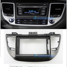 9 дюймов автомобиля радио фасции для HYUNDAI Tucson-(левое колесо, черный) панель приборной панели комплект установки адаптера ободок консоли пластина Facia