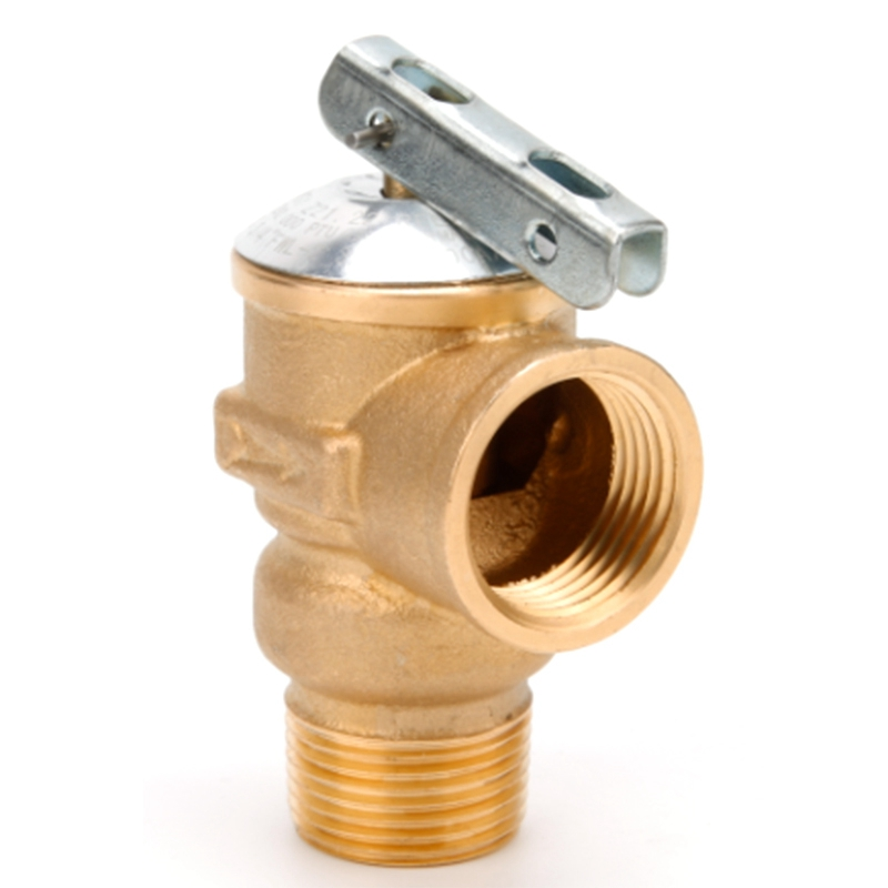 3/4 Inch NPT American Standard Lead-Free Water Heater Safety Valve 150 Psi Brass Pressure Relief Valve