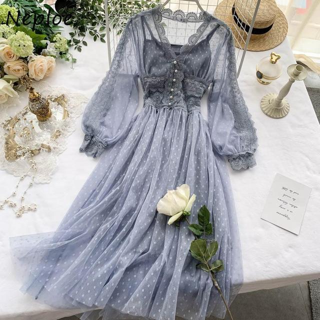 Chic Mesh Vintage Elegant  with Exquisite Beading dress 2