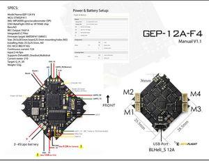 Image 4 - Gprc pular hd 3 118mm f4 3 4 s 3 Polegada w/caddx bebê tartaruga v2 1080 p câmera GEP 12A F4 controlador de vôo fpv corrida zangão bnf