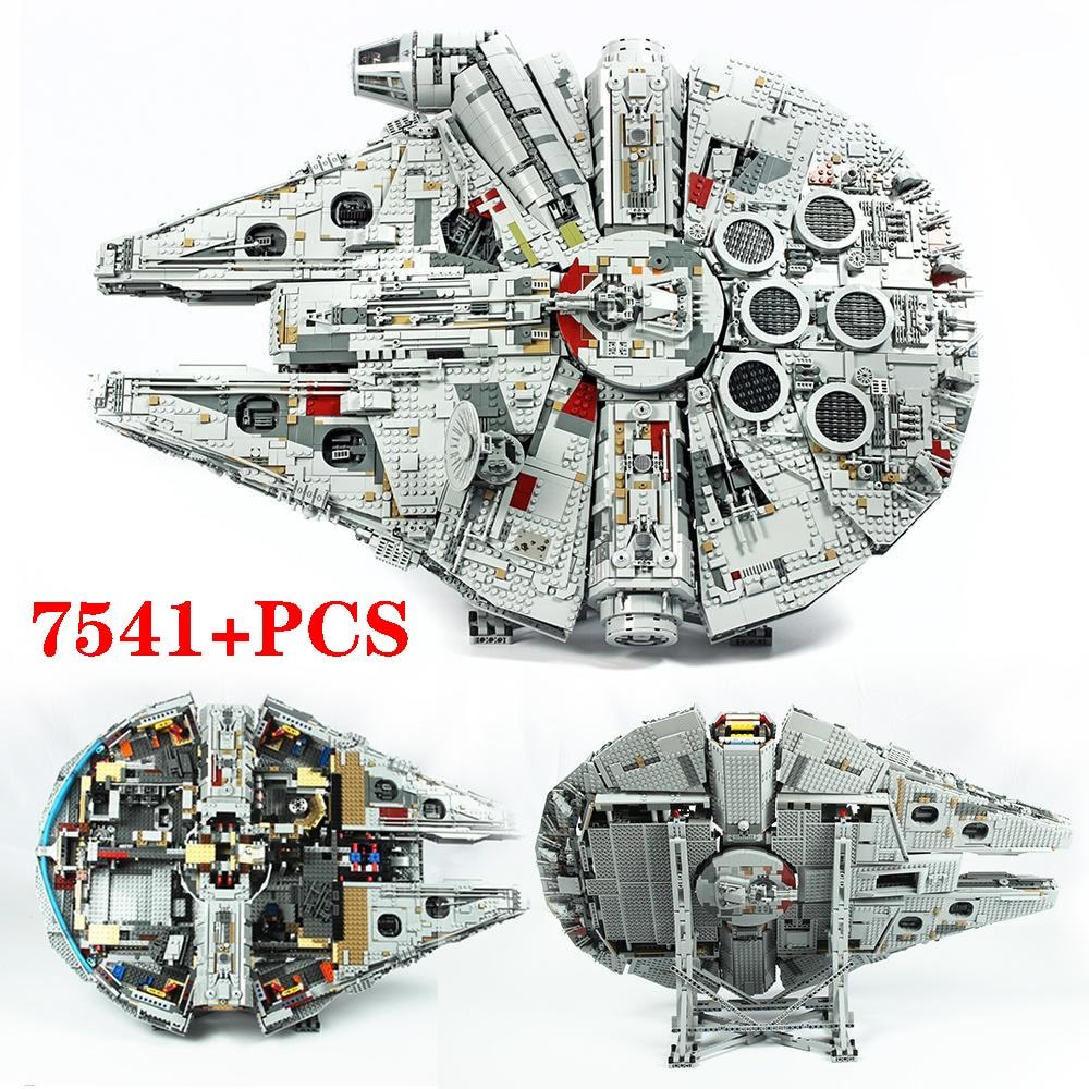 New Compatible Legoinglys Star Toys Wars Millennium 75192 Falcon 75257 Building Blocks Spacecraft DIY Bricks For Kids Toys Gift