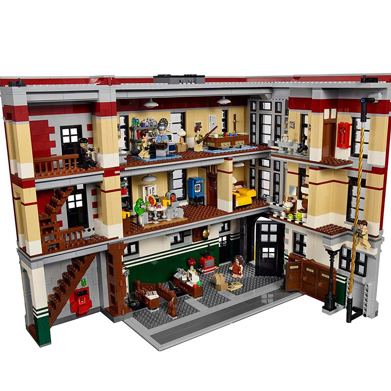 Lepining DHL 16001 4705Pcs Ghostbusters Firehouse Headquarters Brinquedos Model Set Building Kits Model 75827
