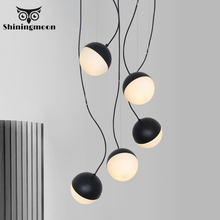 Modern Minimalism Art Led Pendant Lights Creative Glass Shade Pendant Lamp Cafe Bedside Hanglamp Restaurant Living Room Lighting