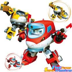 Новый супер деформации поезд робот фигурки Super Wings трансформации аниме «Little Man», для мальчиков девочки; дети подарок раздвижные игрушки кукл...