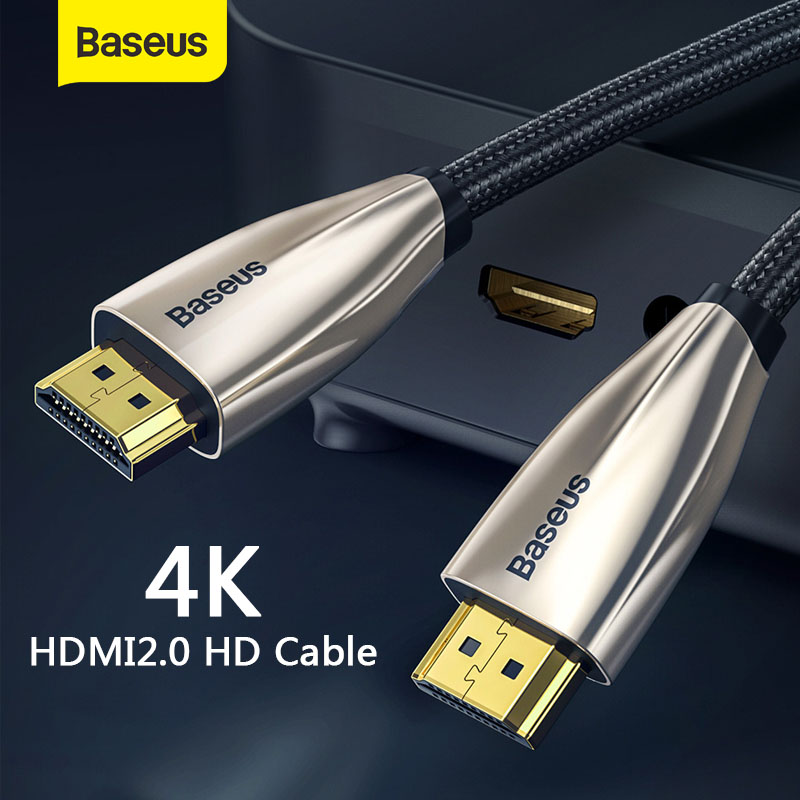 Baseus Horizontal 4K HDMI Male To Male Adapter 2 0 Cable For PS4 Projector TV Audio Video HDMI Wire Cord Digital Splitter Switch