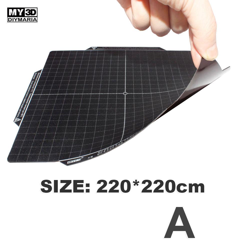 Para impressora 3d cama quente macio adesivo magnético macio apenas para my3d F1 A ou F1 B tamanho 210*210mm|Peças e acessórios em 3D| |  - title=