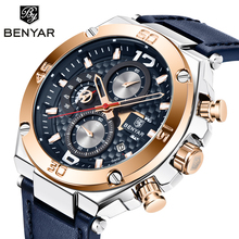 купить BENYAR Mens watches top brand luxury quartz wrist watch men military waterproof Chronograph watch men clock relogio masculino дешево