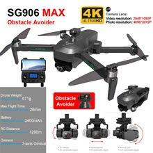 2021 sg906 pro max drone automático desvio de obstáculos 3 axis cardan sem escova professional 800m 5g wifi rc zangão gps quadcopter