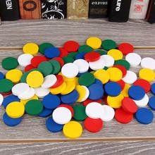 100Pcs/Set Montessori Wooden Colorful Disc Chips Mathematics Teaching Aids Children Toddler Early Education Cognition Toy