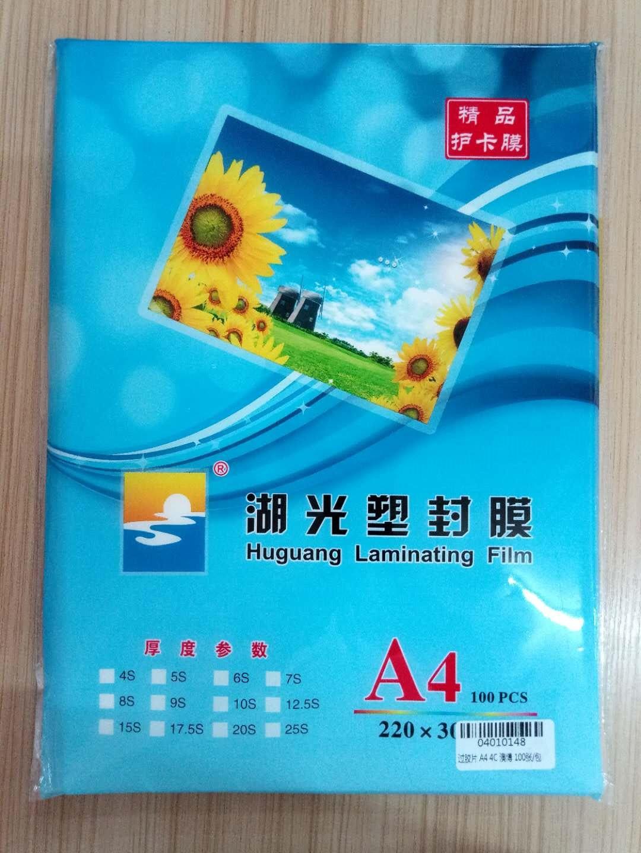 A4 Photo Laminating Film Plastic Film Documents Lamination Film 4C Thick guo jiao pian A3 Laminating Film 100 Sheets/Bag Wholesa