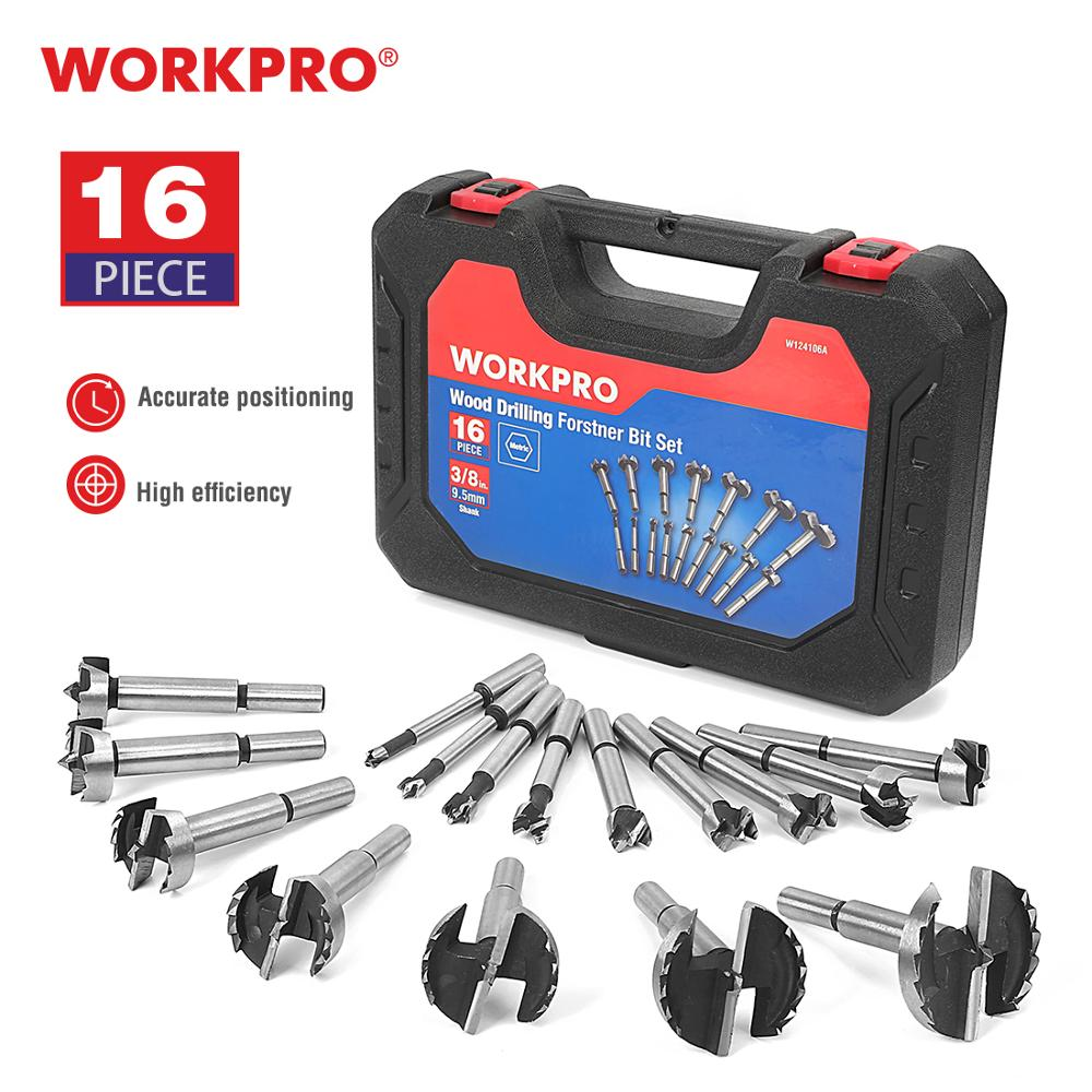 WORKPRO Forstner Drill Bit Flat Wing Drilling Bits for Woodworking Wood Cutting Hole Opener