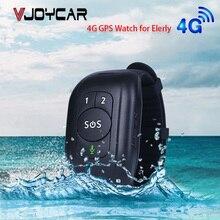 Smart GPS Bracelet Elderly Falling Detection SOS 4G Watch Emergency Alram Two Way Calling GPS Tracker Heart Rate Blood Pressure