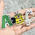 1 шт. животных Би Жираф лягушка английские буквы алфавита A-Z Аппликация утюг на буквы нашивки на одежду значок пакетик с пастой обувь