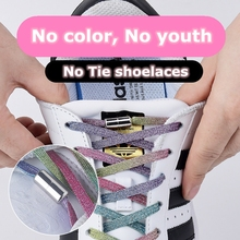 New Elastic Locking Shoelaces Quick sneakers women Flats No Tie Shoelace Shoe laces Kids Adult Women Men Shoes lace