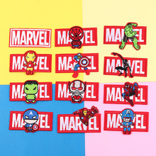 Marvel superhero Spiderman Iron Man hulk Cartoon Stickers for Clothes Accessories Kids Patches Iron on Transfer Children Patches