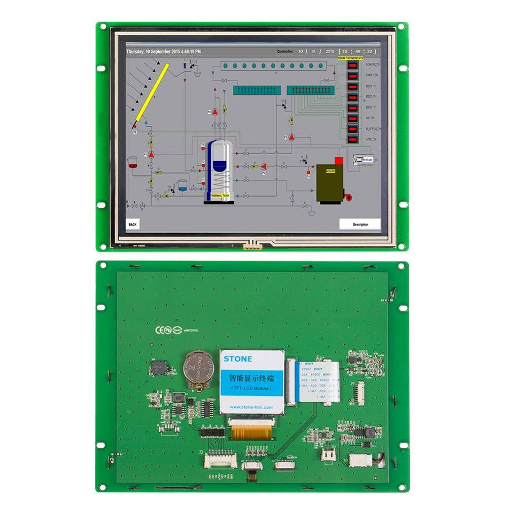 8.0 Inch HMI TFT LCD Module STVA080WT-01 With Touch Panel +Controller Board+Software