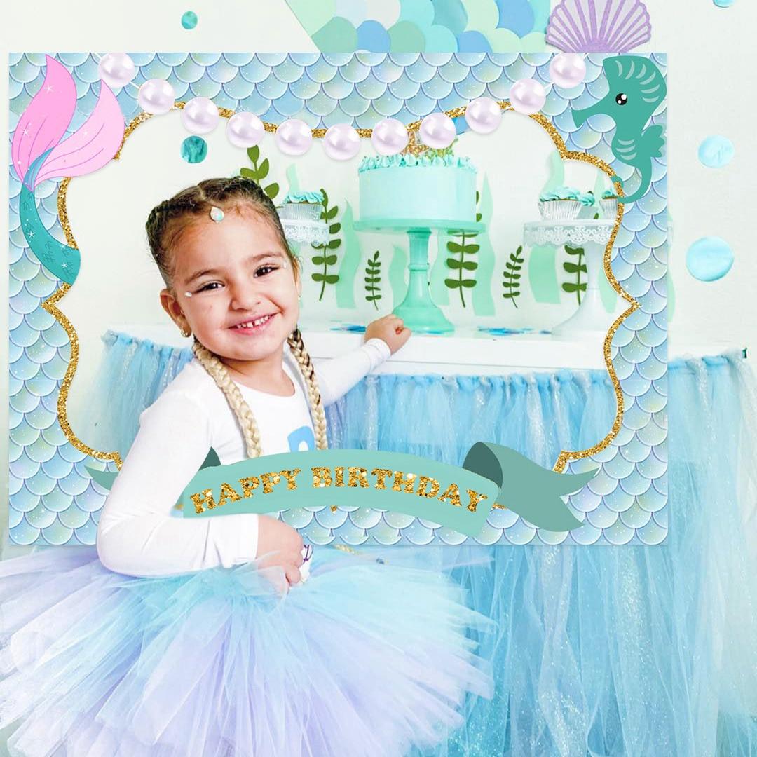 2020 Mermaid Photobooth Birthday Mermaid Party Balloons for Birthday Baby Shower Party Decor Kids Mermaid Wedding Party Supply