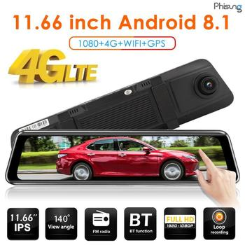 Hot Sale Car DVR Delicate Design Portable Phisung Z66 4G Android Car DVR Camera Rearview Mirror WiFi GPS Video Recorder image