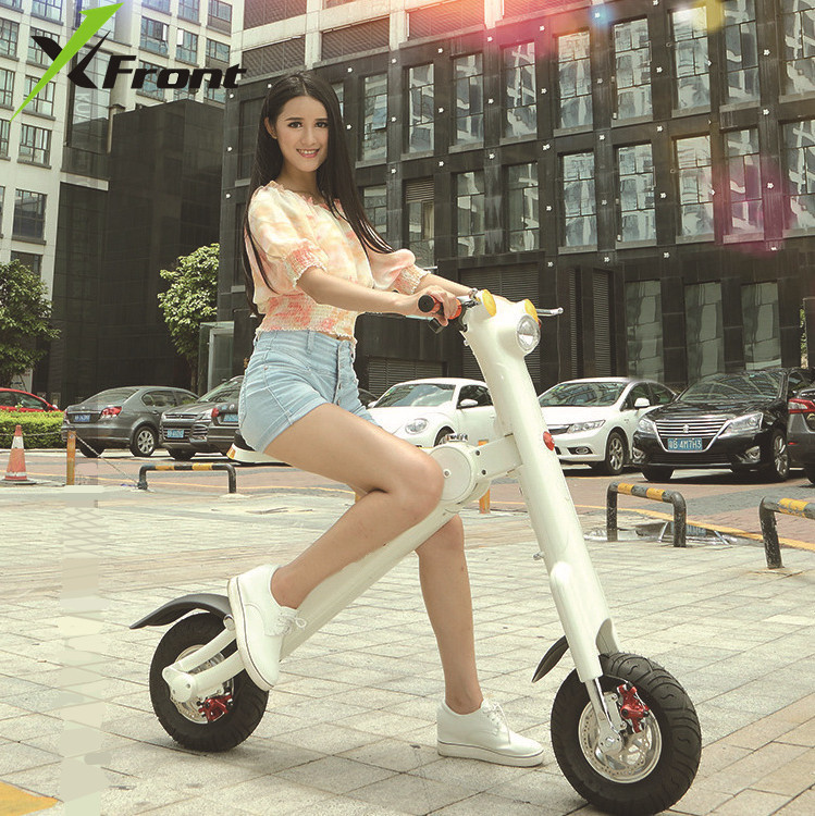 Original X Front Brand Folding bike Smart music LED Electric Scooter 36V 10A 250w Battery electric bicycle ET vehicle ebike|Electric Bicycle|   - title=