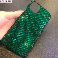 Customized Case For Apple iPhone 11 Pro Max XS Samsung Galaxy Note 10 S10 Plus Luxury Bling Bling Diamond Rhinestone Case Cover