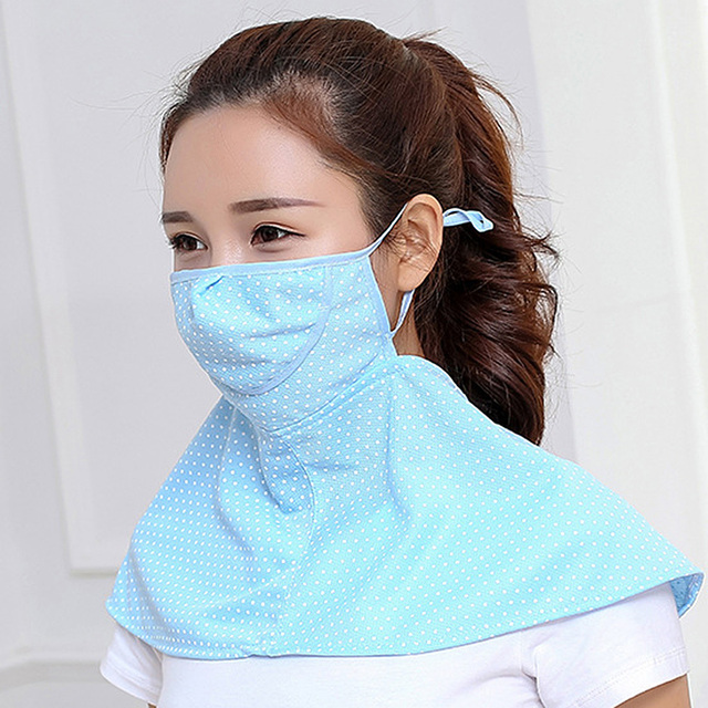 Women Summer Outdoor Breathable Neck UV Protection Shawl Sun-proof Face Mask 2