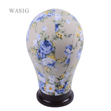 Canvas  Block Manikin Mannequin Head Model for Hair Extension Toupee Lace Wig Making Styling Cap Display Stand