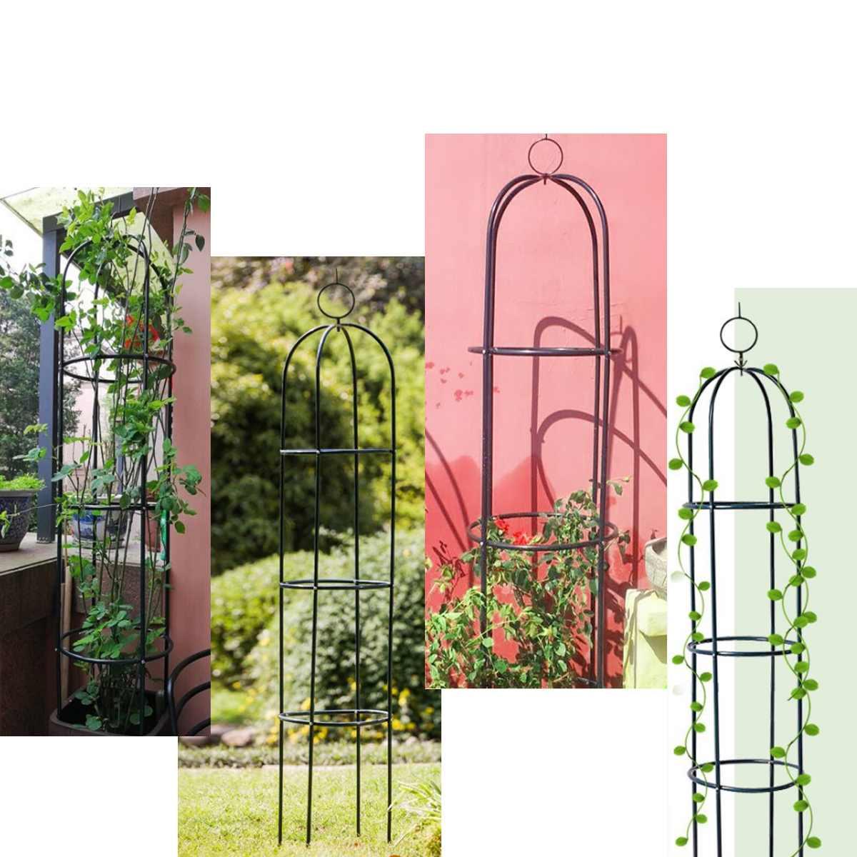 188CM Iron Tube Wedding Decoration Arches Garden Climbing Plant Flower Vine Rack Planter Trellis Support Metal Frame Display