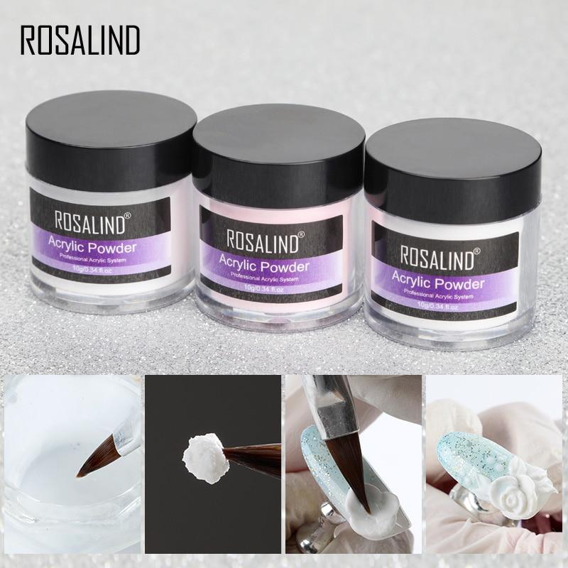 Акриловый порошок ROSALIND, полигель для ногтей, лак для ногтей, украшения для дизайна ногтей, набор для маникюра с кристаллами, профессиональные аксессуары для ногтей 1