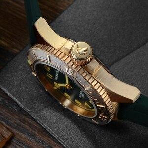 Image 4 - San Martin Diver brązowy automatyczny obrotowy Bezel męski mechaniczny zegarek 200m wodoodporny zespół świecąca tarcza