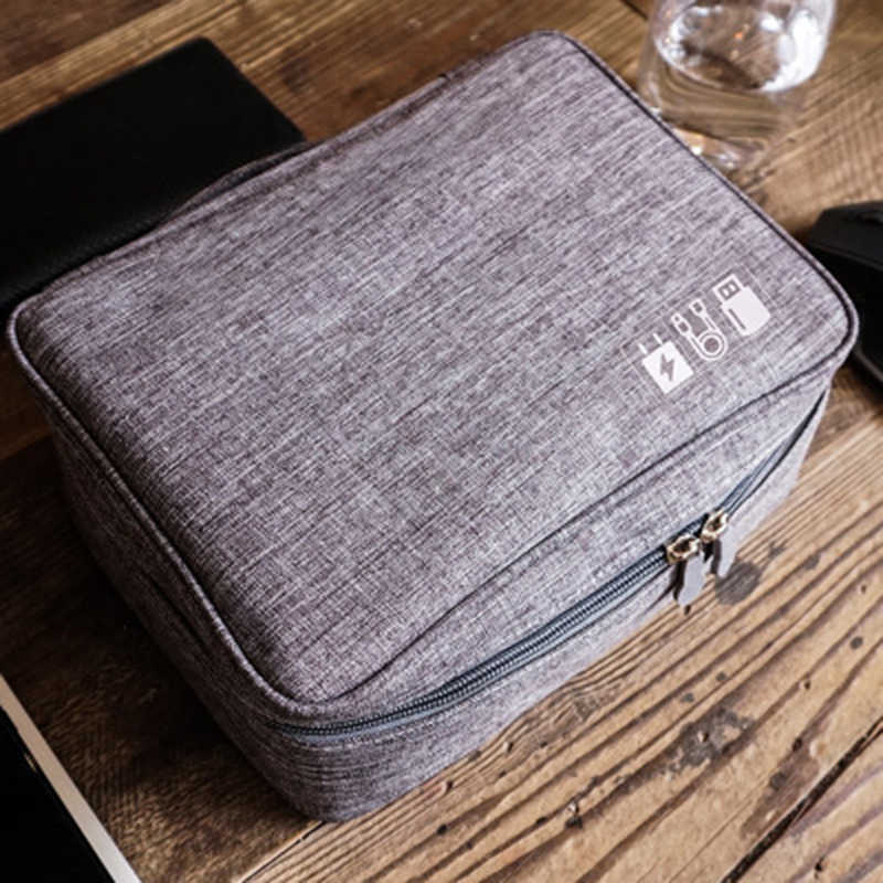 Multifunction Digital Storage Bag Empty USB Data Cable Earphone Wire pen Power bank HDD Organizer Portable Travel Kit Case Pouch