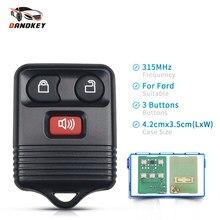Dandkey 315 mhz 3 botões de controle remoto chave do transmissor para ford escape f 150 explorer 2001 - 2007 chave do carro com bateria