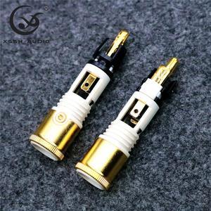 Image 5 - XSSH AUDIO 8pcs Free shipping 0110Cu nextgen signature RCA 2 sets of 8 pieces copper high end connector Male Plug
