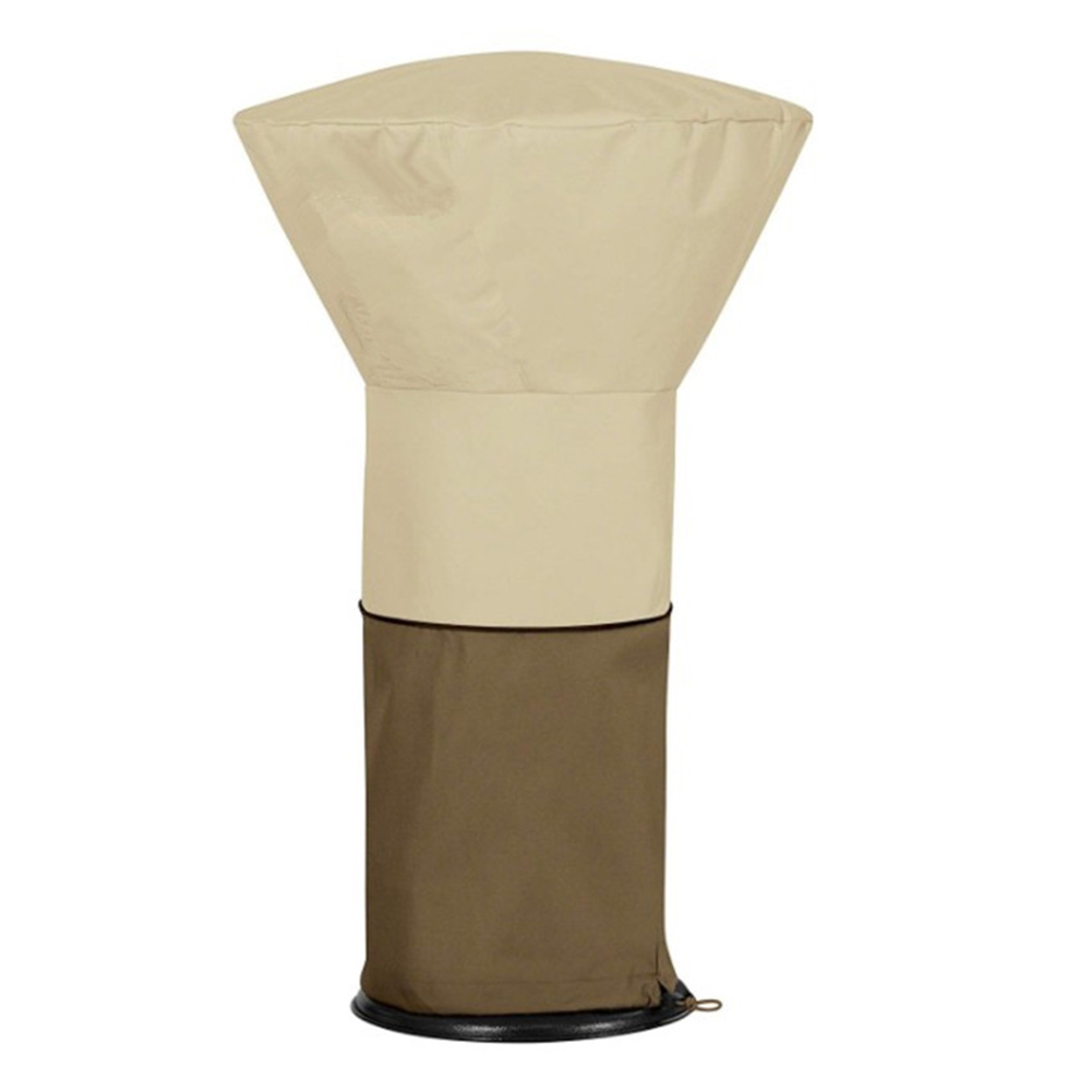 Standup Outdoor Round Heater Covers 89 H x 33 D x 19 B COLORCASA Patio Heater Cover 210D Oxford Cloth Waterproof with Zipper