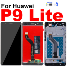 For Huawei P9 Lite Display Touch Screen Digitizer LCD Assembly for Huawe P9 Lite 2017 VNS-L21 Screen Frame Repair Replacement high quality new lcd display screen digitizer assembly replacement for huawei p9 lite g9 lite free shipping