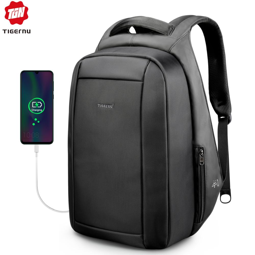 Tigernu Waterproof Anti Theft Male Mochila 15.6inch Laptop Backpack Men USB Backpacks School Bags Bagpack For Teens Travel Bag