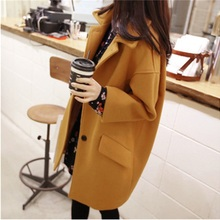 Women Jacket Autumn-winter Korean Version Fashion Large-size Women's Lapel Tweed