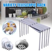 Retractable Storage Rack Folding Kitchen Gadget Multi-function Stainless Steel Steaming Pot  MJJ88