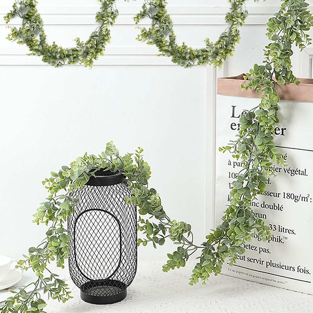 1pcs 1.9/1.8m Wedding Decorative Artificial Ivy Green Leaf Garland Plants Vine For Home Garden Leaves Decoration Greenery Rattan