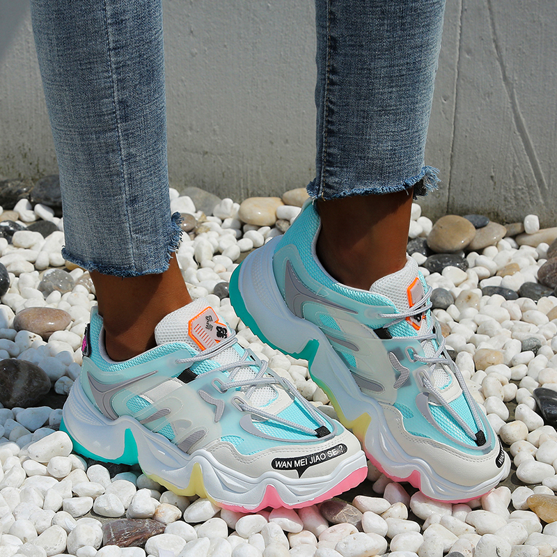 BLWBYL Vulcanize Shoes Summer Sneakers 2020 Breathable Rainbow Color Fashion Casuals Height Increasing Female Chunky Ladies Shoe|Women's Vulcanize Shoes| - AliExpress