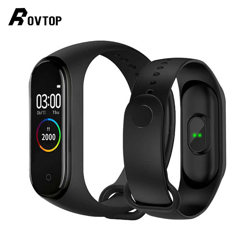 Rovtop M4 Smart Band 4 Fitness Tracker Watch Sport Bracelet Heart Rate Blood Pressure Smartband Monitor Health Wristband