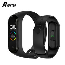 Rovtop M4 Smart Band 4 Fitness Tracker Watch Sport Bracelet Heart Rate Blood Pressure Smartband Monitor Health Wristband(China)