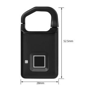 Image 5 - Big Promotion Fingerprint Lock USB Rechargeable Keyless Anti Theft Padlock Suitcase Door Lock Burglar Alarm Security Free Ship