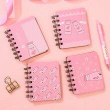 Avocado notebook Kawaii agenda 2020 Coil sketchbook Portable planner caderno bullet journal papelaria weekly