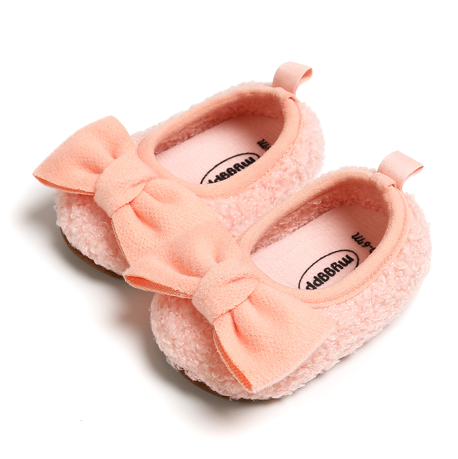 0-18M Baby Shoes Newborn Infant Boy Girl First Walker Sofe Sole Princess Bowknot  Toddler Baby Crib Shoes Casual Moccasins