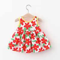 Vestidos de verano para niñas, vestido con flores de encaje, a la moda