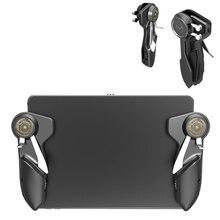 Yeni Ipad tetik PUBG oyun denetleyicisi altı parmak L1R1 yangın amacı düğmesi Gamepad Joystick Tablet Smartphone için oyun aksesuarları